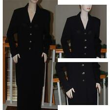 FABULOUS STUNNING  ST. JOHN KNIT BLACK BASIC SKIRT SUIT SZ 12 14 XL