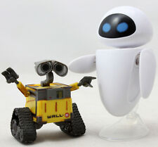 2pcs Disney Pixar  Wall. E&Eve Mini Action Figure Robot Kid Toys Boxed Gift Xmas