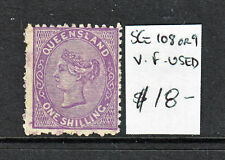 Qld Side Face Qv 1/ Mauve Or Purple Sg 108 Or 109 F.Used