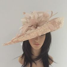 PETER BETTLEY NUDE OYSTER WEDDING HAT FORMAL Occasion MOTHER OF THE BRIDE