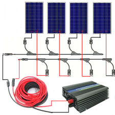400W grid tie solar system:4*100W PV Solar Panel&300W inverter RV charge battery