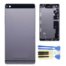 Gray For Huawei P8 GRA-L09 Rear Panel Battery Door Back Cover Housing +Boutton