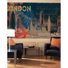 New STREETS OF LONDON WALL MURAL Prepasted Wallpaper Room Decor Great Home Gift