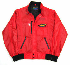 80S VTG STYLE AUTO CARERRA DESIGN RED NYLON BOMBER JACKET RACE OG 70S PORSCHE M
