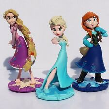 3 pcs Cute Movie Frozen Action Figures Character Doll Cake Topper Toys Gift UK