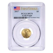PRESALE - 2017 1/10 oz Gold American Eagle PCGS MS 70 First Strike