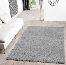 "Shaggy Rug Grey Silver 963 Plain 5cm Thick Soft Pile 120cm x 170cm(4ft x 5ft 6"")"