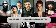 AUG 2014's HOTTEST HIP HOP R&B RAP MUSIC VIDEOS, 2 DVDs, 50 videos! FREE S&H