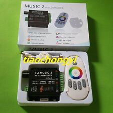 Sound Audio LED RGB RF Music Controller Touch Remote 2 Channel  12-24VDC 18A