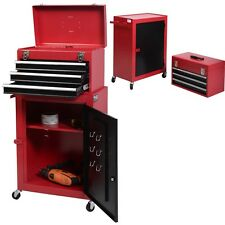 2pc Mini Tool Chest & Cabinet Storage Box Rolling Garage Toolbox Organizer