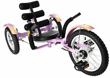 "Mobo Mobito Ultimate Three Wheel Cruiser Kids Ride On 16""  Purple Trike New"
