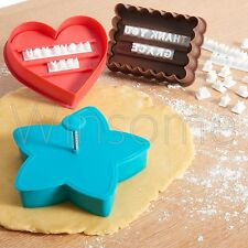 Letterpress Stamp Alphabets Cookies Cutter Cake Biscuit Decorating Cupcake Set