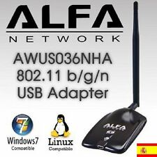 AWUS036NHA,ANTENNA WIFI,ALFA B/G/N,2w,V5,2000MW,SHIPPING FROM SPAIN urgent 24Hs