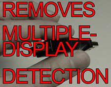 Disable tv/monitor auto detection device, remove EDID override