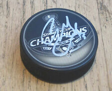 ALEX GOLIGOSKI HAND SIGNED PITTSBURGH PENGUINS STANLEY CUP CHAMPS PUCK W/COA
