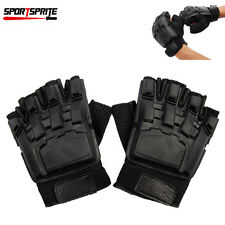 Military Army PVC Rapper Half Finger Tactical Assault Combat Work Gloves Glove L