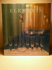 Classic Elements 7 piece etched glass cordial set with decanter