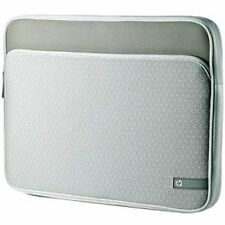 "HEWLETT PACKARD HP WW555AA#ABL SILVER NOTEBOOK SLEEVE W/POCKET, UP TO 14"" - NEW!"
