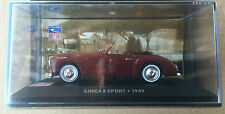 "DIE CAST "" SIMCA 8 SPORT - 1949 "" SIMCA COLLECTION  SCALA 1/43"