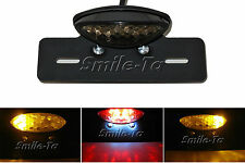 Smoke Motorcycle Bike LED Tail Light Integrated Indicators Black Plate Holder