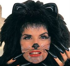 Cat Whiskers Mouse Animal Cute Costume Face Kitty Black Halloween Womens Girls