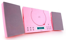 Denver MC-5010 Pink CD Player - Wall Mountable & Pink HiFi System With Radio NEW