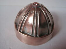 Antique Victorian small copper jelly mould - 8 sectioned dome