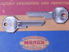 1949-1955 Plymouth Chrysler DeSoto Dodge NOS MoPar Logo Door Keys TWO (2)