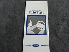 1997 Ford F-150 F-250 Truck  Quick Reference Guide Owners Manual Supplement