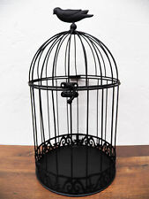 "Antique-Look  14"" x 7"" Birdcage Cage Wedding Card Holder Planter Primitive Crow"