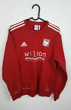 VTG RETRO ATHLETIC SPORTS OVERSIZED RED ADIDAS FOOTBALL SWEATSHIRT JUMPER VGC M