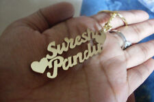Personalized Keychain with your Own or Loved 2 Names handcarved Brass gold colou