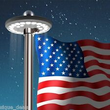 Flag Pole Light LED Solar Powered Automatic Night Super Bright Powerful Flagpole