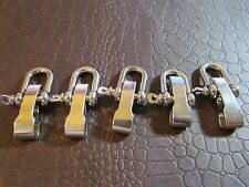 5 CAST STEEL SHACKLES FOR 550 PARACORD. BRACLETS,SURVIVAL, CAMPING HUNTING.EDC