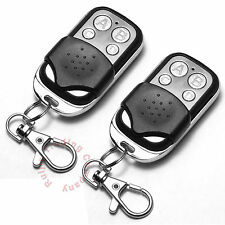 2x Universal Replacement Garage Door Gate Car Cloning Remote Control Key Fob 433