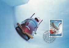 Liechtenstein FDC Ersttagsbrief Karte 1993 Olympia Lillehammer Mi.1076