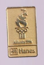 1996 Hanes Olympic Pin Atlanta Gold