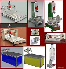 Collection10 cnc router plans milling projet 3D CAD 3th 4th 5th axis plan 6,34Gb