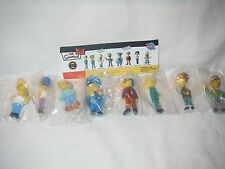 TOMY YUJIN SIMPSONS GACHA BOBBLE HEAD COLLECTION #2 SET OF 8 HOMER NED WIGGUM