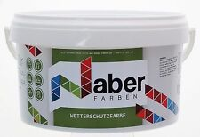 (7,99 €/L)   2,5 Liter - Wetterschutzfarbe - REINWEISS  RAL 9010 -