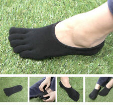 3 Pairs Mens Five Toe Short Socks VIBRAM Five Fingers FILA Skele Shoes Black
