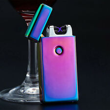 Electric DOUBLE ARCH PULSE PLASMA LIGHTER Flameless Metal Cigarette USB Gift CN
