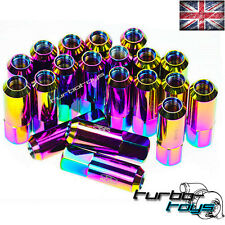 60MM NEO CHROME ALLOY BLOX WHEEL NUTS M12x1.5 fit MAZDA MX5 MX3