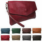 Italian Leather Envelope Clutch and Cross Body Ladies leather bag Made In Italy