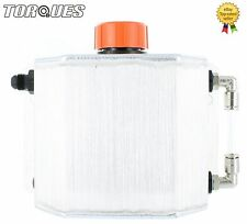 Torques 1 Litre Capacity AN-6 -6AN Oil Breather Catch Tank Can Brushed Aluminium