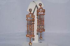 $12,000 4.35Ct Natural Diamond Chandelier Earrings 18K Rose Gold