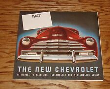 1947 Chevrolet Full Line Sales Brochure 47 Chevy Fleetline Fleetmaster
