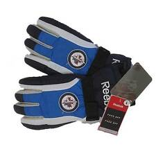 New NHL Reebok Winnipeg Jets Winter Gloves Blue/Black/White Large Hockey Ski