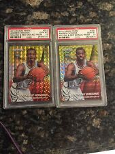 (2) Andrew Wiggins 2014 Panini  Yellow  Red Mosaic  #251 PSA 10 Rookie cards