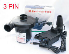 AC: 220V/DC:12V TWO WAY ELECTRIC PUMP FOR AIR BED/BOAT Inflate&Deflate 2100Pa